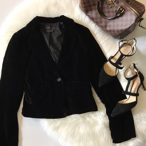 BCBGMAXAZRIA velvet blazer